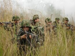Colombian army soldiers