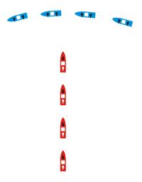 Crossing the T-1- -Manöver