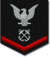 U.S. Navy petty officer third class rating badge for a boatswain's mate