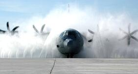 C-130J Hercules cleaning