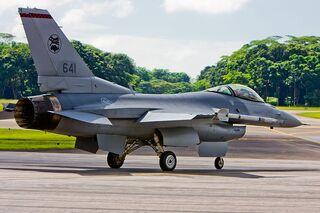 RSAF F-16 taxi
