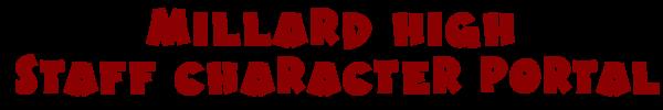 Millard High Teacher Character Portal