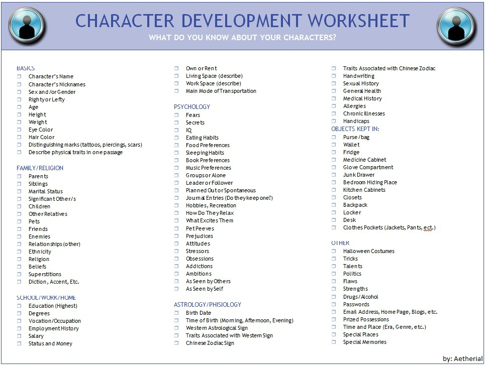 Image - Character-development-worksheet.jpg | Millard High RP Wiki ...