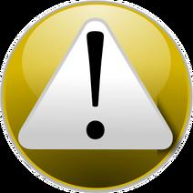 Warning yellow 318px