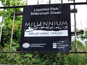 800px-Liquorice Park Millennium Green sign, Lincoln, England - DSCF1610