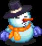 Large Blue Snowman