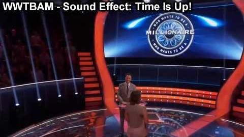 """""""Millionaire"""" Sound Effect- Klaxxon (Clear) - Time Is Up For Today!"""