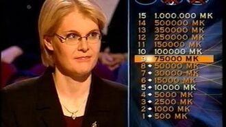Haluatko miljonääriksi? -jakso (28.10.2001)