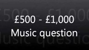 WWTBAM - £500 £1,000 Music question UK 2007