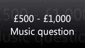 WWTBAM - £500 £1,000 Music question UK 2007