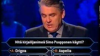 Haluatko miljonääriksi? -jakso (5.5.2000)