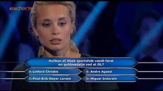 Hvem vil være millionær hvor de vinder 1 hel million Kr. TV 2 Charlie