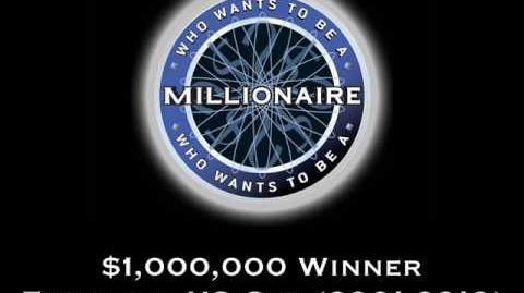 Who Wants to be a Millionaire $1,000,000 Win US Version