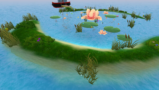 Water Lily Island Cover