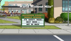 World Without Milo title card