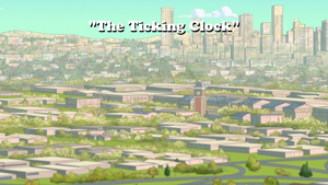 The Ticking Clock title card
