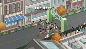 The Race title card
