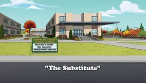The Substitute title card