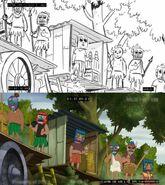 The Island of Lost Dakotas storyboard comparison