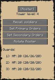 Tower Roster Gui
