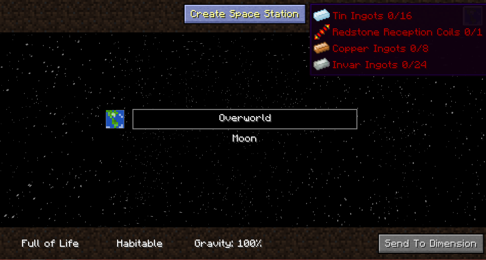 Space station minecraft big dig pack wiki fandom powered by wikia galacticraft dim select screen gumiabroncs Images