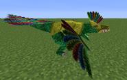 Uvaraptor con armadura de oro