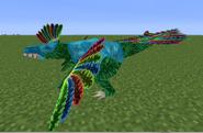 Uvaraptor con armadura de diamante