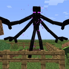 M. Enderman with 4 Hands and Holding Blocks