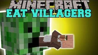 Minecraft- EAT VILLAGERS (GET EMERALDS THE EASY WAY!) Mod Showcase