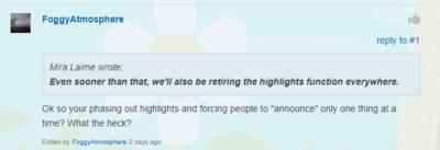 RIP Forum Highlighting