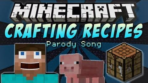 "♪ ""Crafting Recipes"" A Minecraft Parody Song of One Direction's ""Little Things"" ♪"