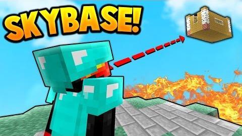 SKY BASE TROLLING! Minecraft SKY WARS