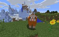 Orange Sheep In The Landscape