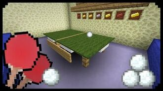 ✔ Minecraft How to make a Ping Pong Table