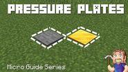 Pressure Plates - Minecraft Micro Guide