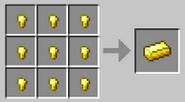 Crafting-gold-ingot