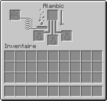 Interface de l'alambic en 1.9