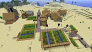 Plains village in desert