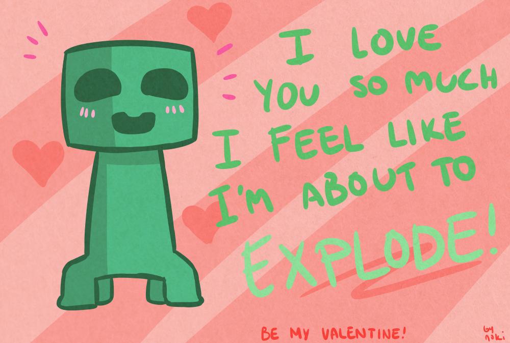 Line Art Valentine : Image crafty valentine 1 creeper by nokilakki d5tfrrl.png