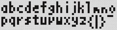 アルファベット 小文字