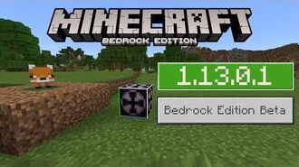 1.13.0.1 BETA Out Now on Minecraft BEDROCK! FOXES are here!