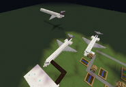 Airliners created by player between villages