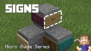 Signs - Minecraft Micro Guide
