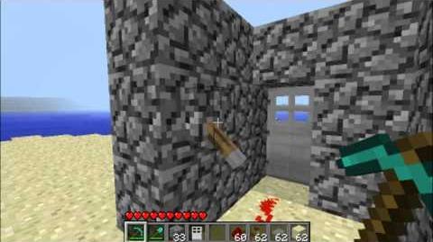 Minecraft How To VERY Simple Redstone Lock