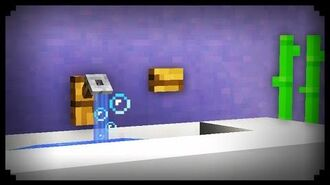 ✔ Minecraft How to make a Working Sink