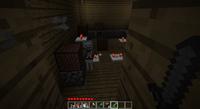 Minecraft Skeleton being shot at arrow flying mid air HD screenshot