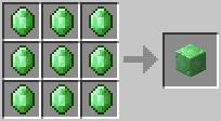 Craft emeraldblock