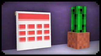 ✔ Minecraft How to make a Calendar