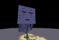 Ghast flying around desert