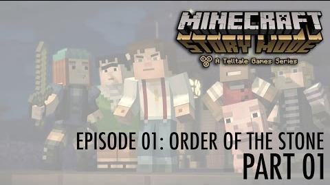 Let's Play Minecraft - Story Mode! Episode 01- Order of the Stone (part 01) An Adventure Begins!
